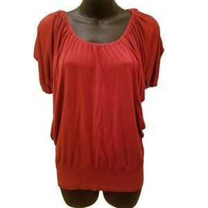 🌕 Body Central orange short slouchy sleeve top